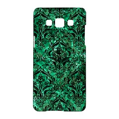 Damask1 Black Marble & Green Marble Samsung Galaxy A5 Hardshell Case  by trendistuff