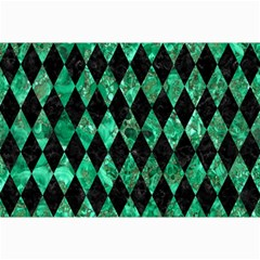 Diamond1 Black Marble & Green Marble Collage 12  X 18  by trendistuff