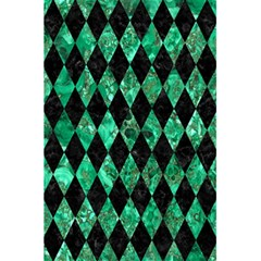 Diamond1 Black Marble & Green Marble 5 5  X 8 5  Notebook by trendistuff