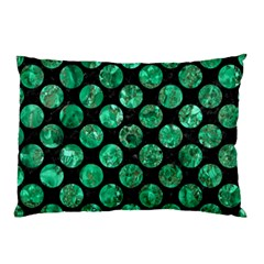 Circles2 Black Marble & Green Marble (r) Pillow Case (two Sides) by trendistuff