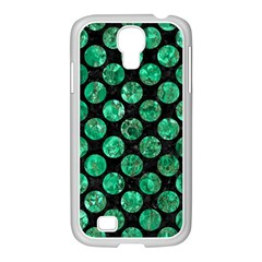Circles2 Black Marble & Green Marble (r) Samsung Galaxy S4 I9500/ I9505 Case (white) by trendistuff