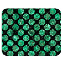 Circles2 Black Marble & Green Marble (r) Double Sided Flano Blanket (medium) by trendistuff