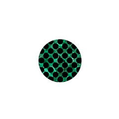 Circles2 Black Marble & Green Marble 1  Mini Button by trendistuff