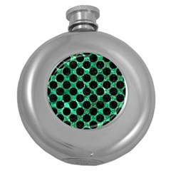 Circles2 Black Marble & Green Marble Hip Flask (5 Oz) by trendistuff