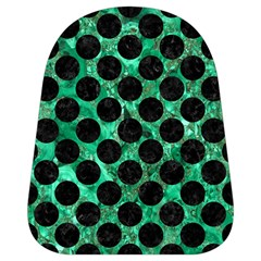 Circles2 Black Marble & Green Marble School Bag (small) by trendistuff