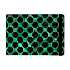 Circles2 Black Marble & Green Marble Apple Ipad Mini Flip Case by trendistuff