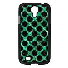 Circles2 Black Marble & Green Marble Samsung Galaxy S4 I9500/ I9505 Case (black) by trendistuff
