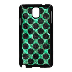 Circles2 Black Marble & Green Marble Samsung Galaxy Note 3 Neo Hardshell Case (black) by trendistuff