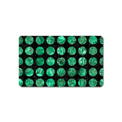 Circles1 Black Marble & Green Marble (r) Magnet (name Card) by trendistuff
