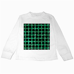 Circles1 Black Marble & Green Marble Kids Long Sleeve T Shirt by trendistuff