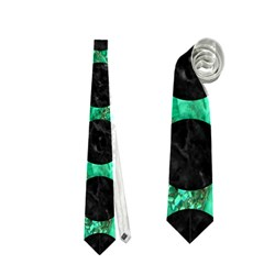 Circles1 Black Marble & Green Marble Necktie (two Side)