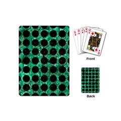 Circles1 Black Marble & Green Marble Playing Cards (mini) by trendistuff