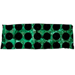 Circles1 Black Marble & Green Marble Body Pillow Case (dakimakura) by trendistuff