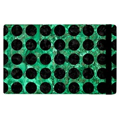 Circles1 Black Marble & Green Marble Apple Ipad 2 Flip Case by trendistuff