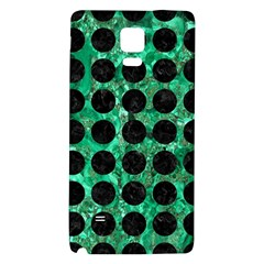 Circles1 Black Marble & Green Marble Samsung Note 4 Hardshell Back Case by trendistuff