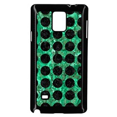 Circles1 Black Marble & Green Marble Samsung Galaxy Note 4 Case (black) by trendistuff