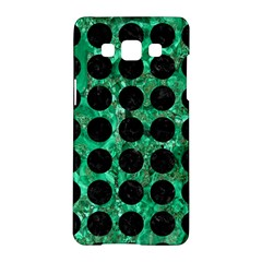Circles1 Black Marble & Green Marble Samsung Galaxy A5 Hardshell Case  by trendistuff
