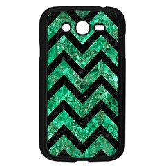 Chevron9 Black Marble & Green Marble (r) Samsung Galaxy Grand Duos I9082 Case (black) by trendistuff