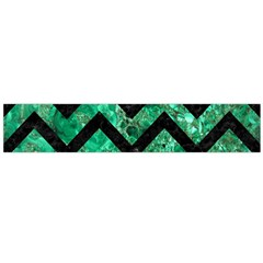 Chevron9 Black Marble & Green Marble (r) Flano Scarf (large) by trendistuff