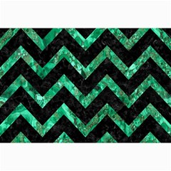 Chevron9 Black Marble & Green Marble Collage 12  X 18
