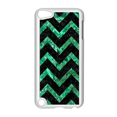 Chevron9 Black Marble & Green Marble Apple Ipod Touch 5 Case (white) by trendistuff