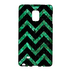 Chevron9 Black Marble & Green Marble Samsung Galaxy Note Edge Hardshell Case by trendistuff