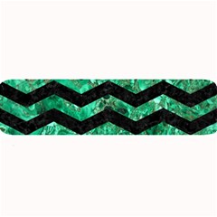 Chevron3 Black Marble & Green Marble Large Bar Mat by trendistuff
