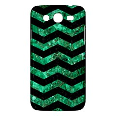Chevron3 Black Marble & Green Marble Samsung Galaxy Mega 5 8 I9152 Hardshell Case  by trendistuff