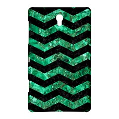 Chevron3 Black Marble & Green Marble Samsung Galaxy Tab S (8 4 ) Hardshell Case  by trendistuff