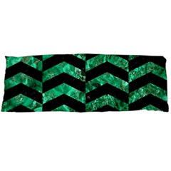Chevron2 Black Marble & Green Marble Body Pillow Case Dakimakura (two Sides) by trendistuff