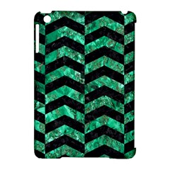 Chevron2 Black Marble & Green Marble Apple Ipad Mini Hardshell Case (compatible With Smart Cover) by trendistuff