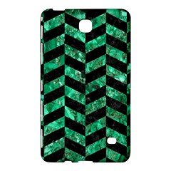 Chevron1 Black Marble & Green Marble Samsung Galaxy Tab 4 (7 ) Hardshell Case  by trendistuff