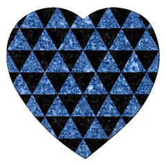 Triangle3 Black Marble & Blue Marble Jigsaw Puzzle (heart) by trendistuff