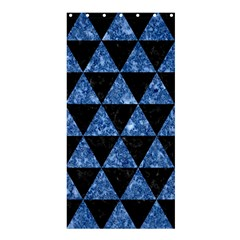 Triangle3 Black Marble & Blue Marble Shower Curtain 36  X 72  (stall) by trendistuff
