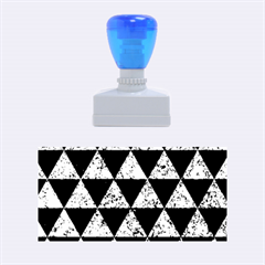 Triangle3 Black Marble & Blue Marble Rubber Stamp (medium)