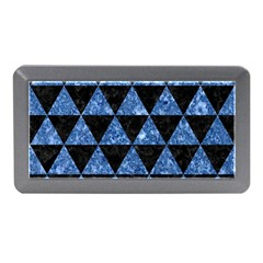 Triangle3 Black Marble & Blue Marble Memory Card Reader (mini) by trendistuff