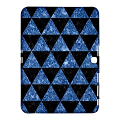 Triangle3 Black Marble & Blue Marble Samsung Galaxy Tab 4 (10 1 ) Hardshell Case  by trendistuff
