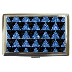 Triangle2 Black Marble & Blue Marble Cigarette Money Case by trendistuff