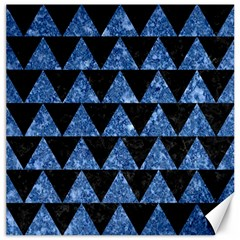 Triangle2 Black Marble & Blue Marble Canvas 20  X 20  by trendistuff