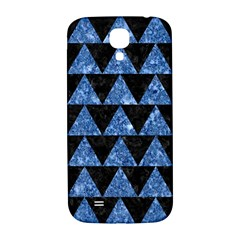 Triangle2 Black Marble & Blue Marble Samsung Galaxy S4 I9500/i9505  Hardshell Back Case by trendistuff