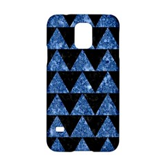 Triangle2 Black Marble & Blue Marble Samsung Galaxy S5 Hardshell Case  by trendistuff