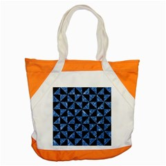 Triangle1 Black Marble & Blue Marble Accent Tote Bag by trendistuff