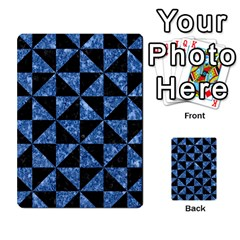 Triangle1 Black Marble & Blue Marble Multi Purpose Cards (rectangle) by trendistuff