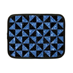 Triangle1 Black Marble & Blue Marble Netbook Case (small) by trendistuff