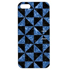 Triangle1 Black Marble & Blue Marble Apple Iphone 5 Hardshell Case With Stand by trendistuff