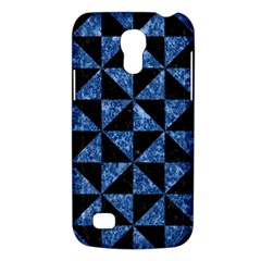 Triangle1 Black Marble & Blue Marble Samsung Galaxy S4 Mini (gt I9190) Hardshell Case  by trendistuff