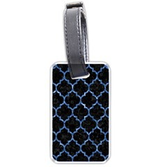 Tile1 Black Marble & Blue Marble (r) Luggage Tag (one Side) by trendistuff