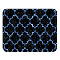 Tile1 Black Marble & Blue Marble (r) Double Sided Flano Blanket (large) by trendistuff