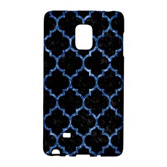 Tile1 Black Marble & Blue Marble (r) Samsung Galaxy Note Edge Hardshell Case by trendistuff