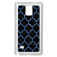 Tile1 Black Marble & Blue Marble (r) Samsung Galaxy Note 4 Case (white) by trendistuff